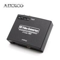 AIXXCO VGA + R/L HDMI dönüştürücü Kutusu 1080 P VGA HDMI HD HDTV Video Converter Adaptörü PC için RCA Fono Stereo Ses ile HDTV