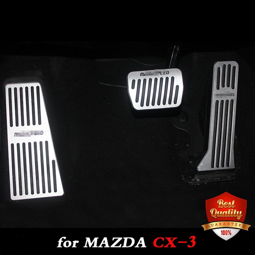 Pédales automatiques en aluminium de pédale de voiture pour la Transmission automatique de MAZDA CX-3 aux pédales 2015-2018 de pied de voiture