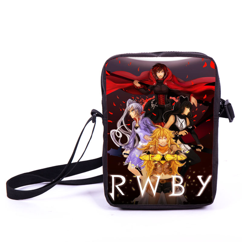 Anime RWBY Young Women Men Mini Messenger Bag Boys Girls Daily Bag Character Ruby Rose School Bags Kids Bookbag Best Gift Bags