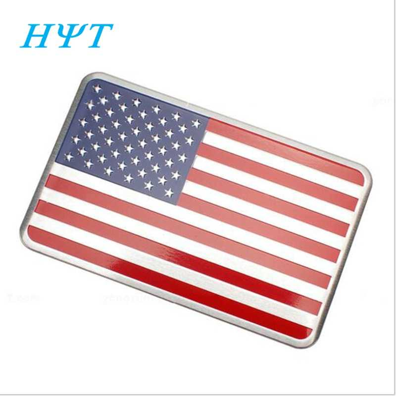Car Auto Sticker Car Styling 3D Metal For American Flag Logo Badge Emblem Decal Decoration For Ford Cadillac Chevrolet Dodge