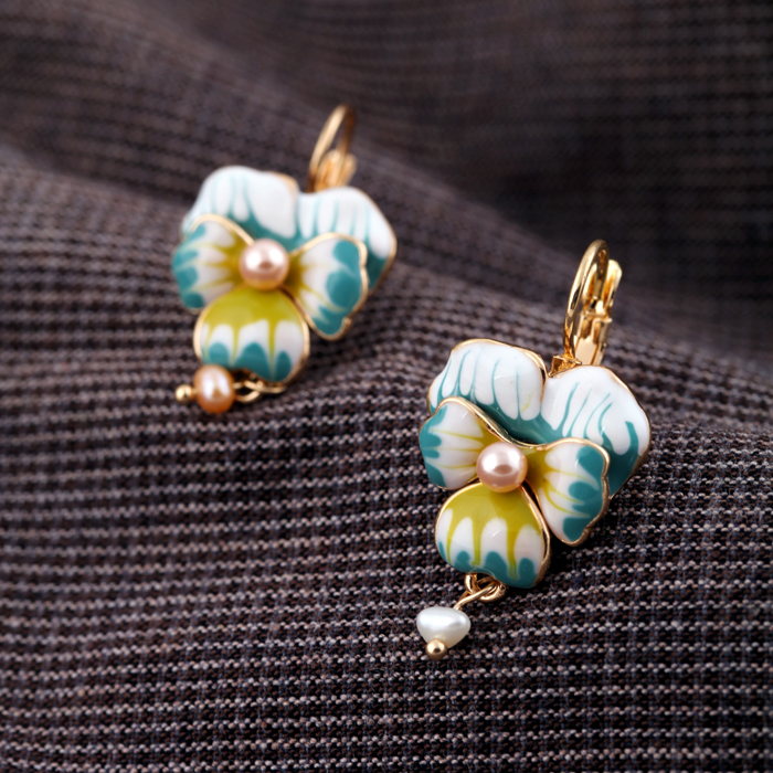 Dienvidu Sorean stila zelta krāsas aksesuāri Modes ziedu radīti - Modes rotaslietas - Foto 6