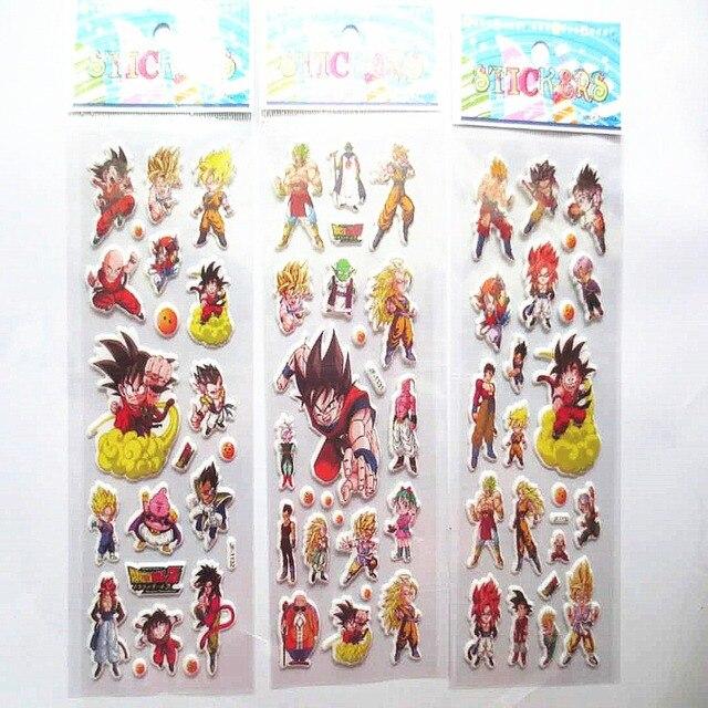10Sheets Lot Anime Dragon Balls Theme Bubble Sticker Xmas Gift Ideas Children Boys Birthday Party Present Supplies Stickers