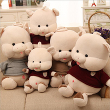 New Style Lovely Wearing Sweater Pig Plush Toy Stuffed Animal Soft Doll Children Birthday & Christmas Gift