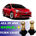 2pcs LED Dual Color Switchback T20 7440 Front DRL Daytime Running Lights&Turn Signal light all in one For Toyota Prius 2008-2014