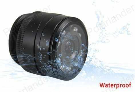 زاوية عرض واسعة مقاوم للماء عكس CCD سيارة الجبهة/الرؤية الخلفية 8 كاميرا ليد 4.3 بوصة طوي tft lcd الرؤية الخلفية