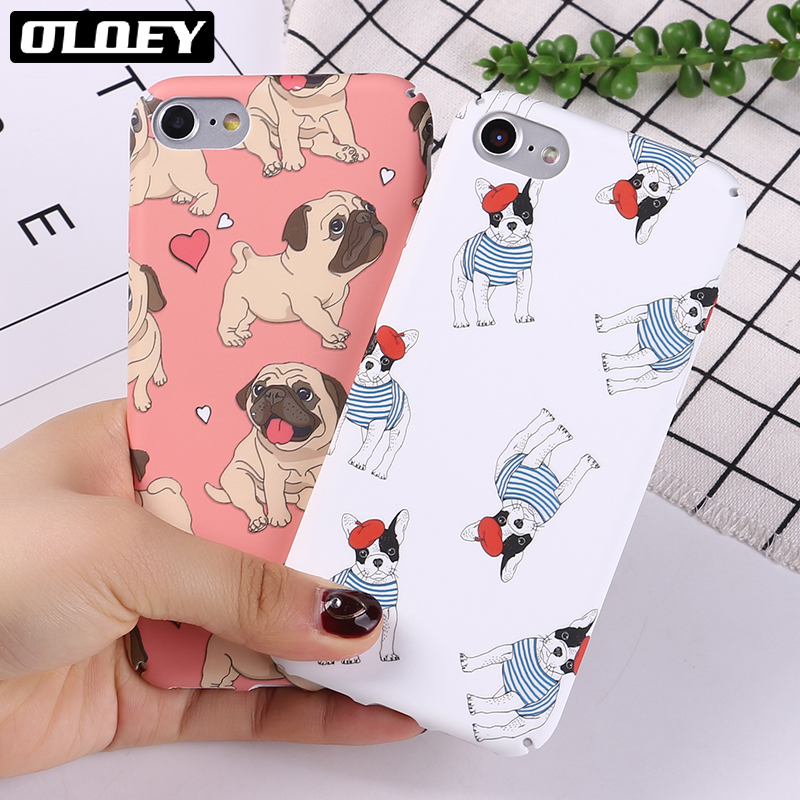 OLOEY Funny Minnie Mickey Cartoon Hard PC Case For iPhone 6 6Plus 7 7P 8 8Plus X Characters Back Cover Skin Coque Capa