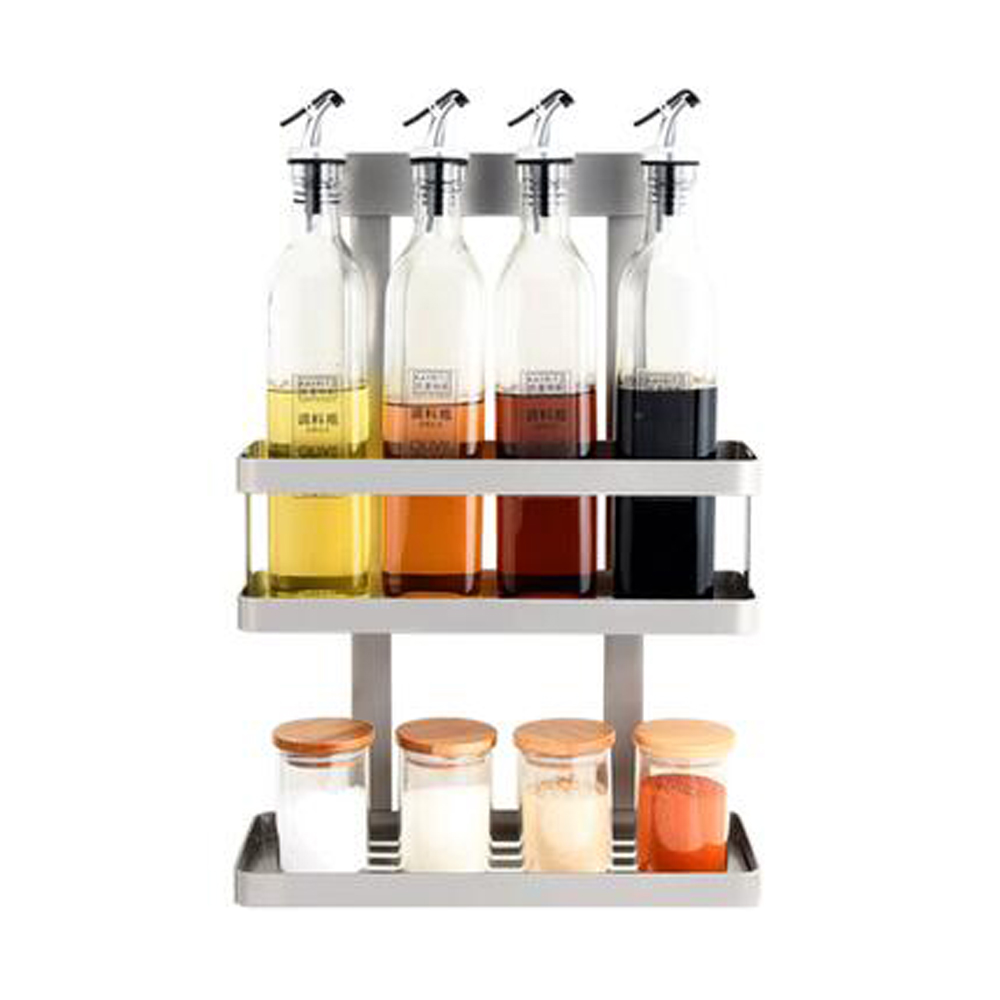 304 stainless steel non-porous wall hanging kitchen seasoning rack multi-purpose household shelves wx8071110 цена