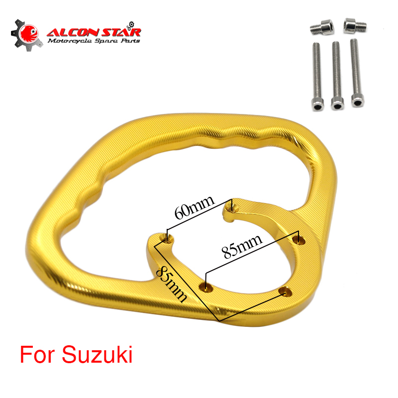 Alconstar CNC Motorcycle Fuel Tank Handle Front Handrail Tank Rear Seat Drop Resistance Handrails For Suzuki