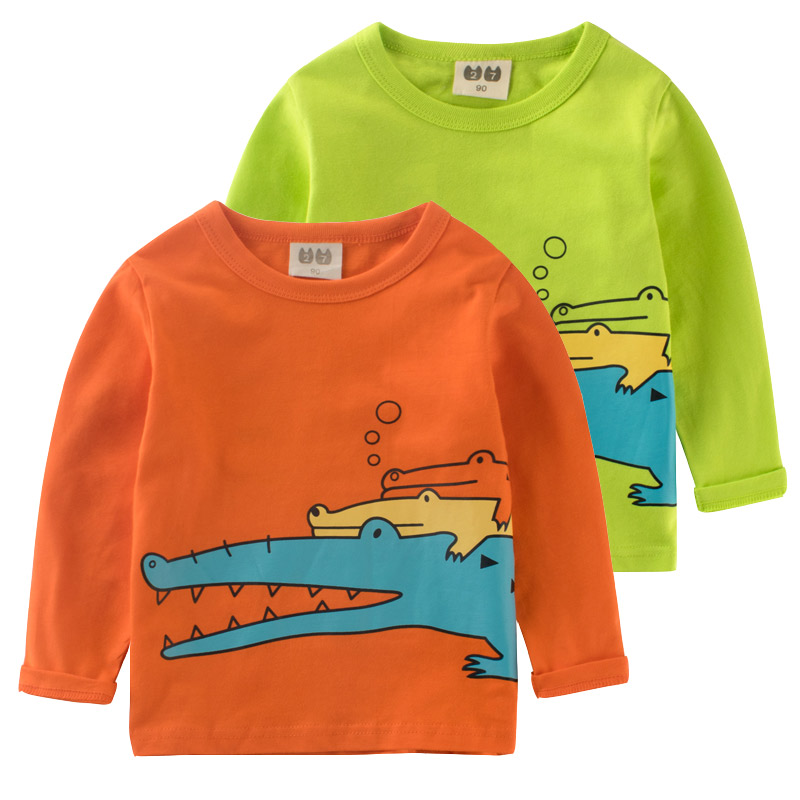 Children clothing boy crocodile kids clothes t-shirt for girls Top shirt for children kid Shirts girls clothes boys tops