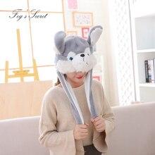 5b46253fd14 2019 Warm hats for women cute Husky plush cap winter gift hats for men ears  can