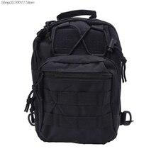Mens Molle Tactical Sling Chest Bag Assault Pack Messenger Shoulder Bag Backpack Dropshipping mens tactical shoulder bag backpack sling chest bag assault pack messenger bag