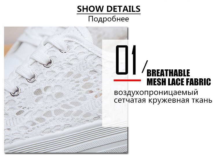 HTB1reLuktfJ8KJjy0Feq6xKEXXaF Women shoes 2019 fashion summer casual ladies shoes cutouts lace canvas hollow breathable platform flat shoes woman sneakers