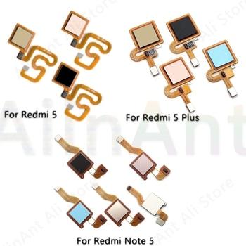 Original Back Home Button Fingerprint Sensor Flex Cable For Xiaomi Redmi Note 5 Plus Pro Fingerprint Sensor Flex недорого