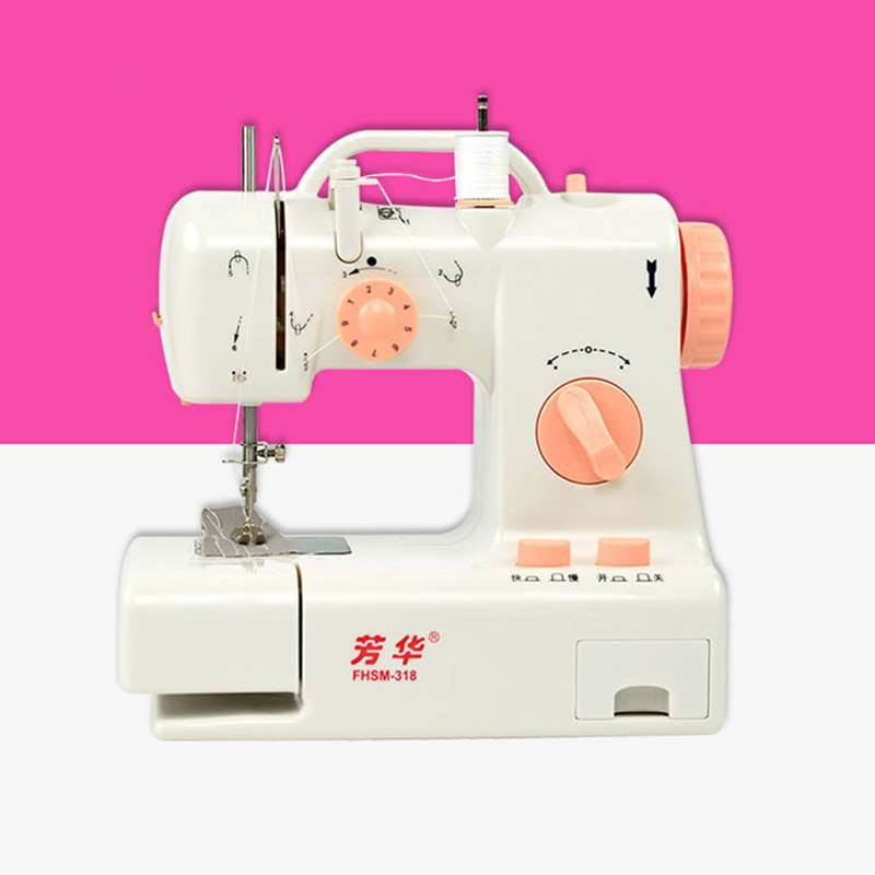 Mini Electric Sewing Machine With Sewing Machines Accessories Adjustable Automatic Stitch Sew Needlework Cordless Fabrics Tool