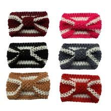 New Knit Baby Headband Crochet Top Knot Elastic Turban Girls Head Wrap Ears Warmer Headwear plus knot side botanical wrap top