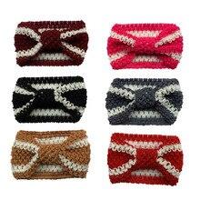 New Knit Baby Headband Crochet Top Knot Elastic Turban Girls Head Wrap Ears Warmer Headwear стоимость