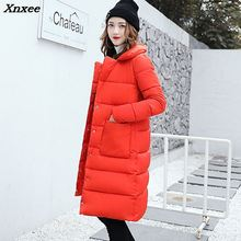 High Quality Winter Women Long Coat 2018 Fashion Female Duck Parkas Jacket Thick Warm Coat Slim Plus Size Parka Wadded цены онлайн