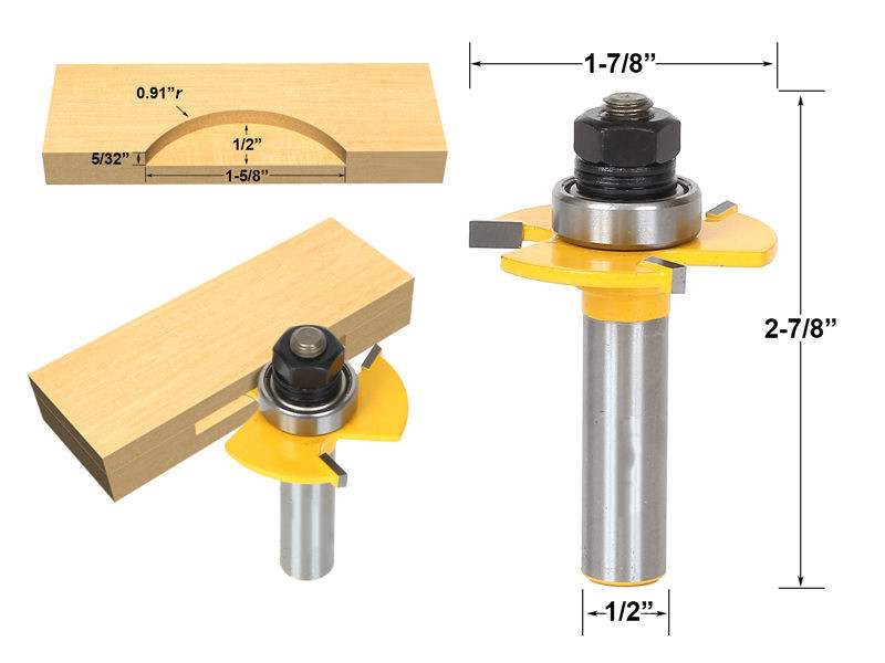 high quality wood milling cutter Biscuit Jointing Router Bit  Carbide Tipped 1/2 Shank woodworking router bits/carbide end mill 1pc strong mayitr 1 2 shank 2 1 4 dia bottom cleaning router bit high grade carbide woodworking milling cutter mdf wood tool