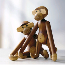 Creative Cute Puzzle Wooden Monkey Toys Hanging Arm Monkey Home Animal Ornaments Different Poses Crafts Kids Adult Birthday Gift