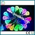 Cabochon feirantes ucs1904 18 pcs smd5050 rgb luzes led para parques de diversões
