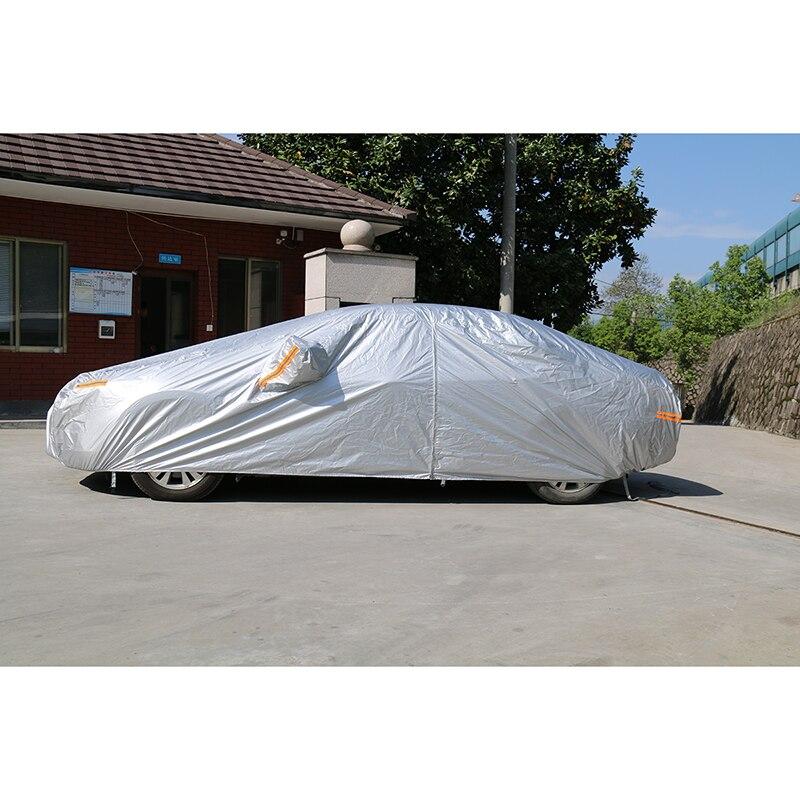 Kayme imperméable à l'eau pleine bâches de voiture soleil poussière protection contre la pluie bâche de voiture auto suv protection pour Mercedes benz w203 w211 w204 cla 210 - 4