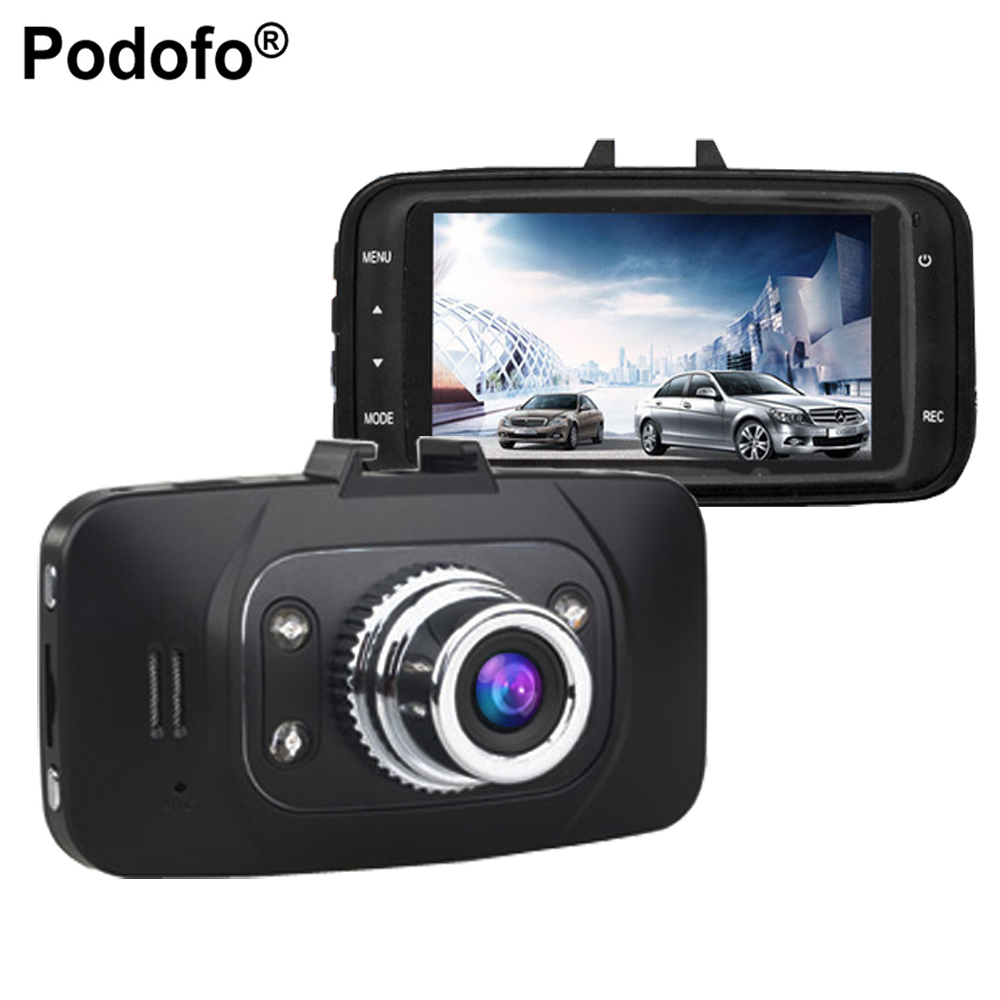 Podofo GS8000L Car DVR Camera Video Recorder Novatek 96220 Car DVRs 2.7 Full HD 1080P G-Sensor Night Vision Dash Cam Black Box