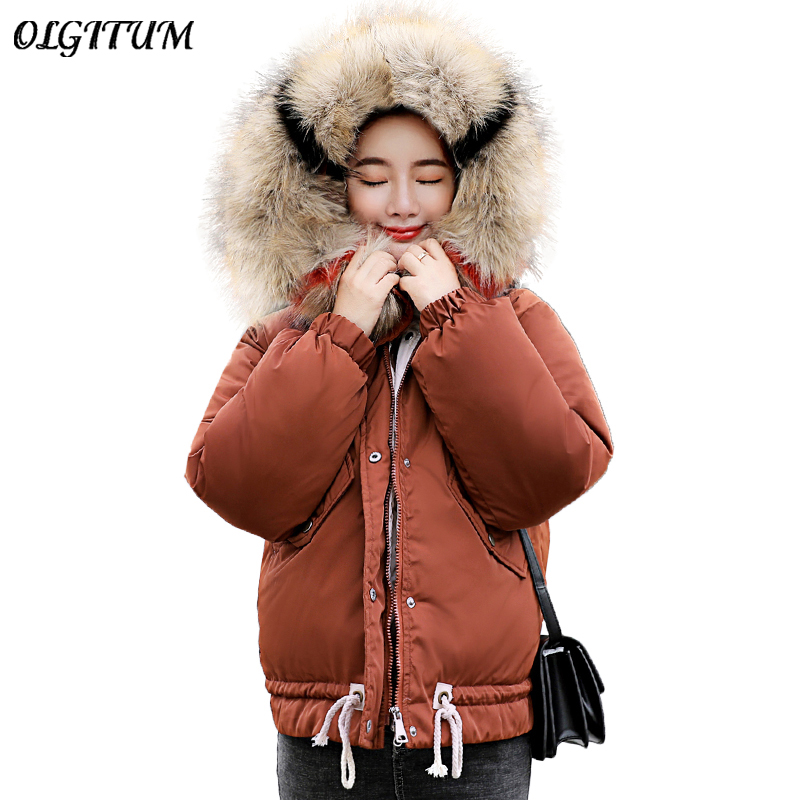 39ac13efc US $22.05 20% OFF|Fashion New Winter Cotton Coat Women Loose Hooded Down  Jacket 2019 Female Harajuku Short Big Fur Collar Thicken Warm Coat  Parkas-in ...