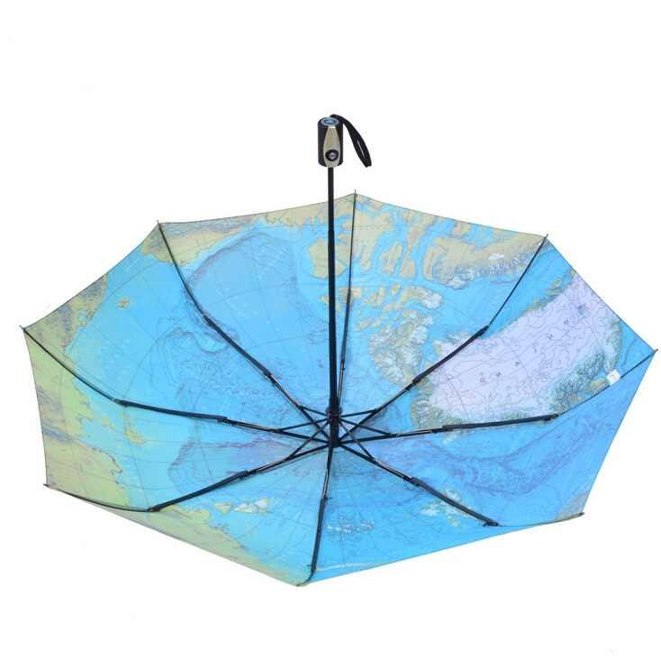 Горячая мира Географические карты авто открыть/AUTO CLOSE УФ-покрытие ветрозащитный 3 раза Бизнес зонтик путешествия дождливый зонтик с проведение