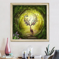 Youran 5d diy Diamond Embroidery Animal Deer Forest Landscapes Mosaic Pattern Home Decorative Diamond Painting Christmas Gift