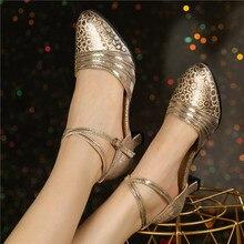 HoYeeLin Modern Standard Dance Heels Women Ladies Closed Toe Tango Waltz Dancing Shoes Indoor Sole
