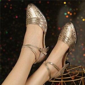 Image 1 - HoYeeLin Moderne Standaard Dance Hakken Vrouwen Dames Gesloten Teen Tango Wals Dansen Schoenen Indoor Zool
