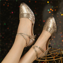 HoYeeLin nowoczesne standardowe obcasy taneczne damskie damskie zamknięte Toe Tango Waltz buty do tańca podeszwa wewnętrzna