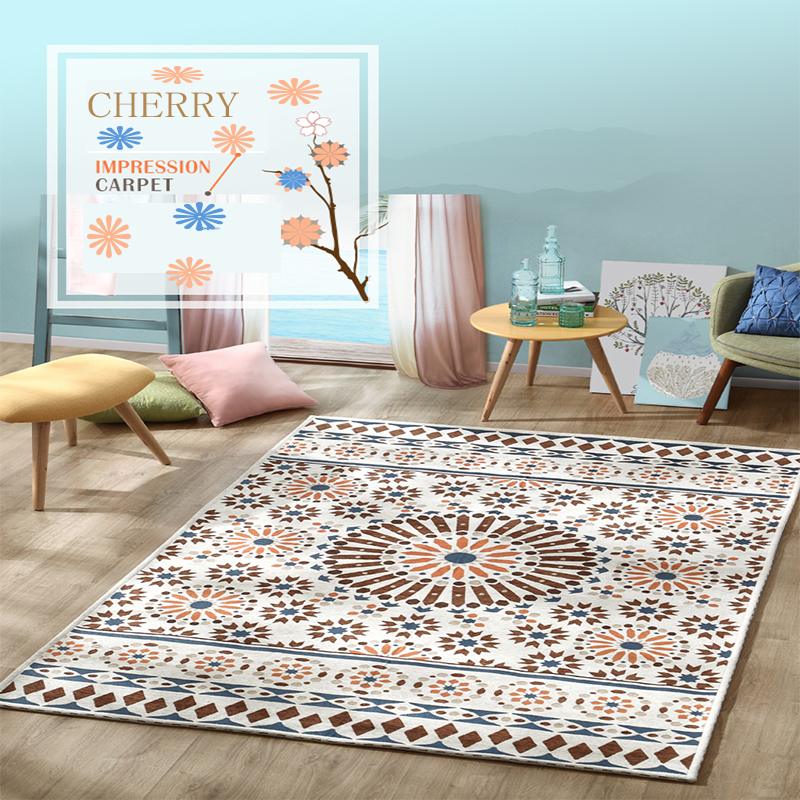 Pastorale motif Floral Chenille matériel maison tapis tapis salon chambre salle à manger étude café décoratif chambre chaude