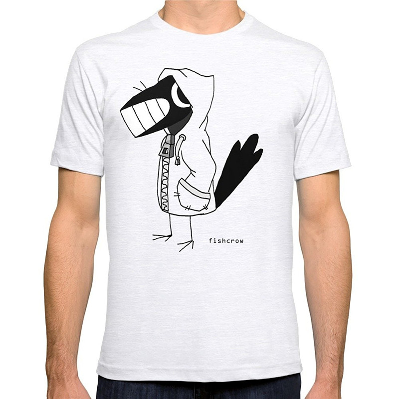 T Shirt High Quality MenS Fishcrow Hoddy O-Neck Short Sleeve Casual Tee Shirts