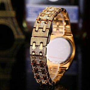 Image 4 - Tops Designer Brand Luxe Vrouwen Horloges Best Selling 2018 Producten Diamant Ap Horloge Waterdicht Vrouwen Gouden Horloge Met Gift Box