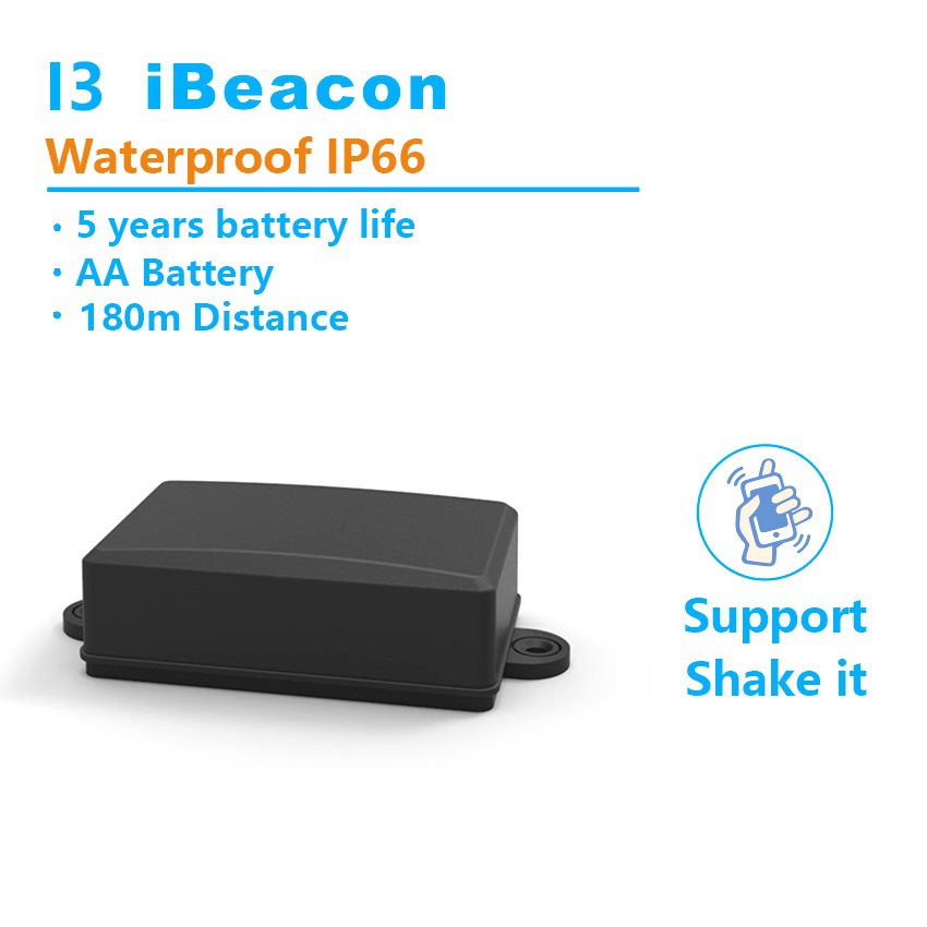 180m Ibeacon ip66 Blueteeth 4.0 Base Station Shake it Broadcast Indoor Location Smart Home Phone Beacon LBS IOS Android