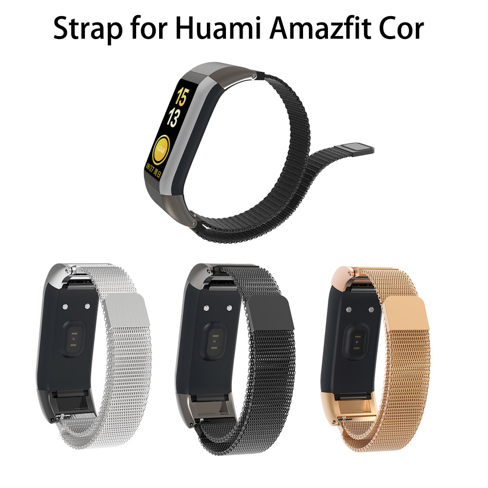Magnetic Metal Stainless Strap For Huami Amazfit Cor Replacement Comfy Bracelet Watchband For Huami Amazfit Cor Band