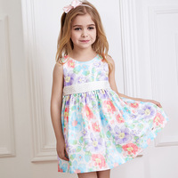 Foreign Trade Clothing Brand Dress Wholesale Agent Sleeveless Printing Of Small Children And Pet Princess Skirt