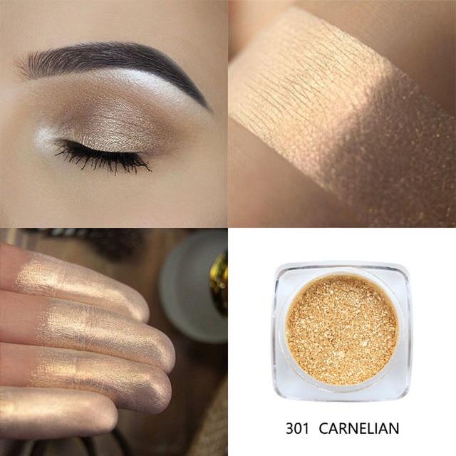 Nueva moda marca superior PHOERA pigmento sombra de ojos brillo polvo brillante colores sombra de ojos paleta metálico maquillaje de ojos cosmético