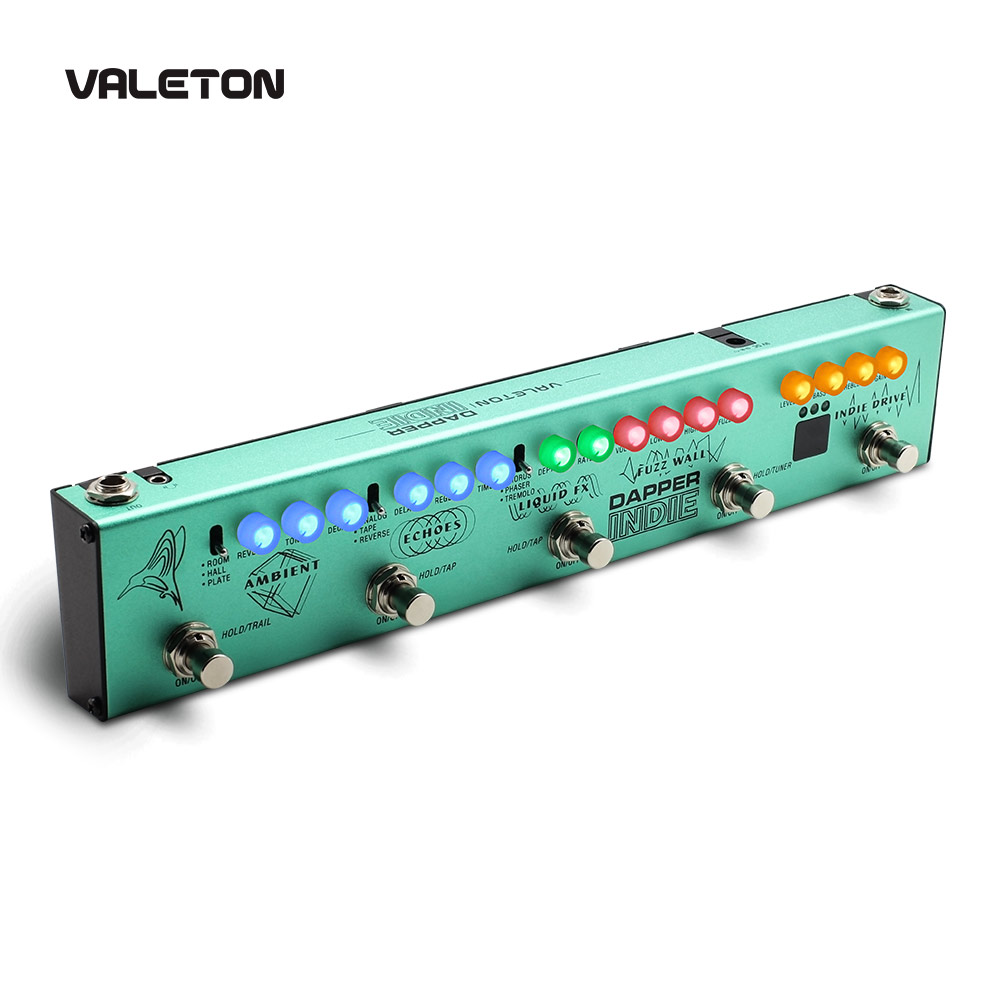 Valeton Multi Effects Guitar Pedal Dapper Indie of Distortion Reverb Delay Chorus Fuzz And Phaser Tremolo for Indie image
