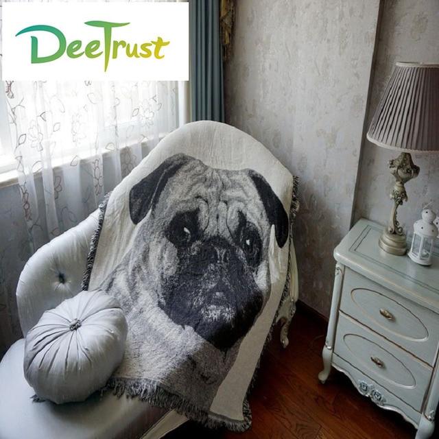 Cotton Europe Bohemia Super Soft Thicken Lovely Dog Blanket Fashion Throw On Sofa Bed