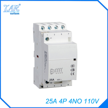 Free shipping high quality 50/60Hz 25A  4P 4NO 110V 4-pole household mini DIN Rail modular AC contactor  adjustable standing desk 110v 240v 50 60hz free shipping to west asia