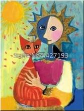 5D Diy Diamond Painting Cross Stitch Kits Cartoon Cat Oil Painting Home Decor Full Rhinestones Mosaic Inlay Diamond Embroidery
