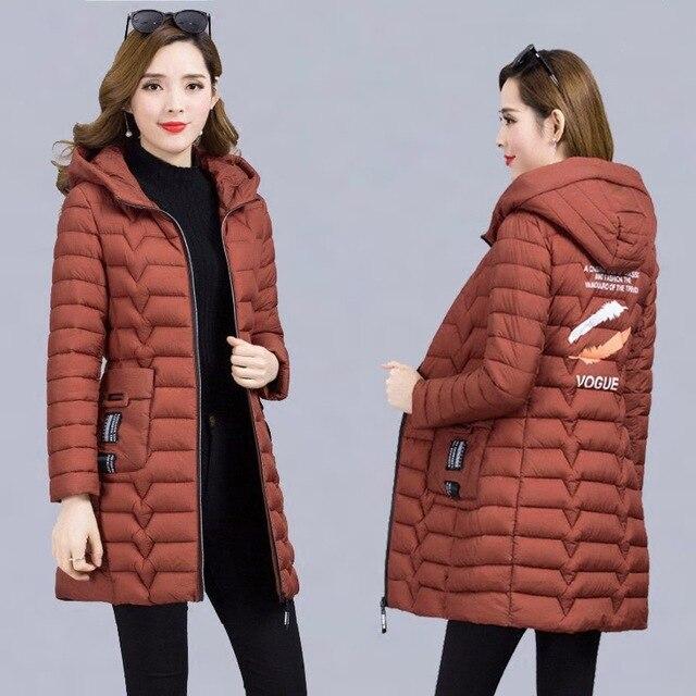 Winter Coat Women 2018 Fashion Cotton Padded Jacket Women Long   Parka   Hooded Coats Female Thick Warm Plus Size Winter Coats Women
