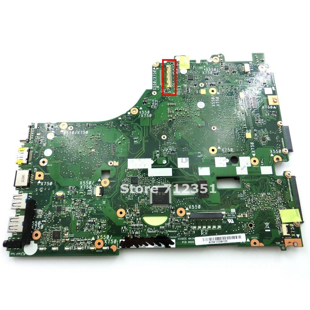 Image 2 - X550ZE A10 7400 CPU V2G Mainboard For ASUS X550ZA X550Z VM590Z K550Z X555Z Laptop motherboard USB3.0 90NB06Y0 R00050 100% Tested-in Motherboards from Computer & Office