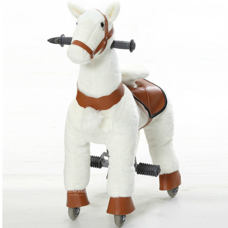 M Size Children Mechanical Walking Ride on Horse Toy Rocking Animals Ride Plush Toys Hobby Horse Pony Scooter Kid Christmas Gift children rocking horse gift baby eating chair music ride on toy cute duck birthday walker amphibious toys 2 kinds of functions