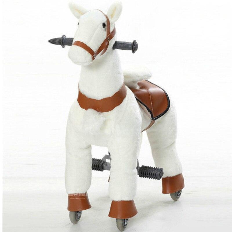 M taille enfants marche mécanique balade sur cheval jouet animaux à bascule balade jouets en peluche passe-temps cheval poney Scooter enfant cadeau de noël