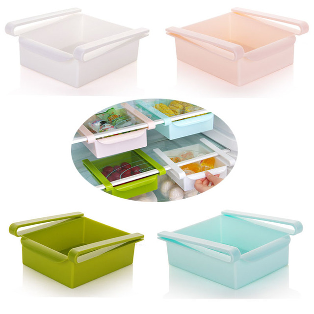 Creative Multi Functional Kitchen Twitch Refrigerator Classification Food  Storage Box Rack Drawer Separate Box Desktop