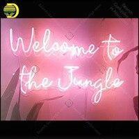 Precio Letrero de neón para Bienvenidos a la jungla Bombilla de neón letrero hecho a mano para