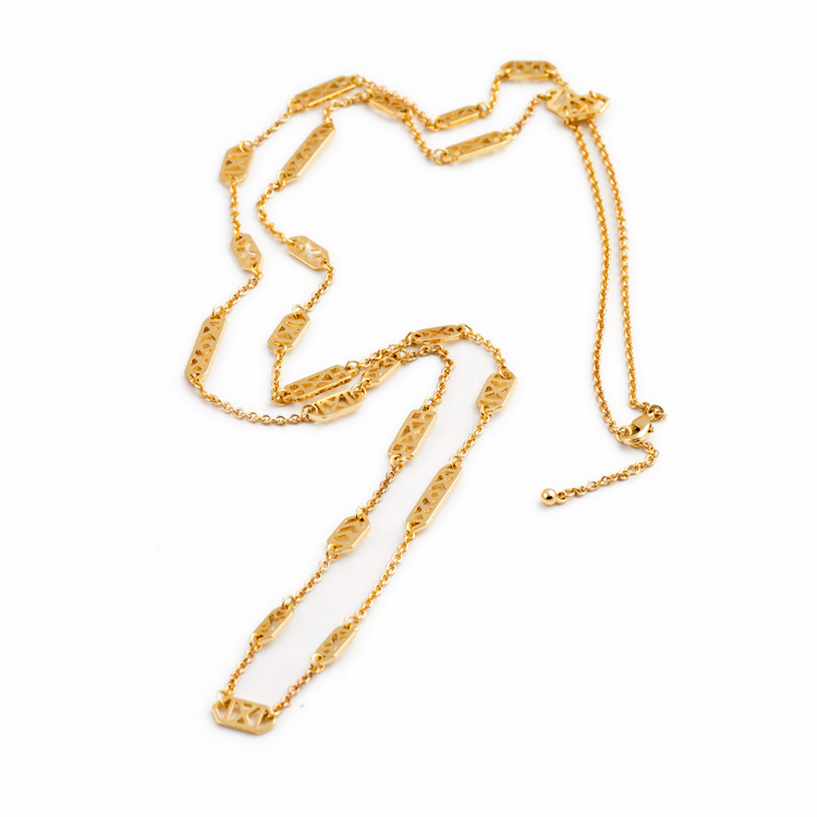 Chic Shiny Gold Thin Chain 2015 New Design Casual Long Chains Zinc ...